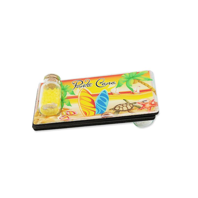 Hot Sales Epoxy Magnetic Fridge magnet With Drifting Bottle