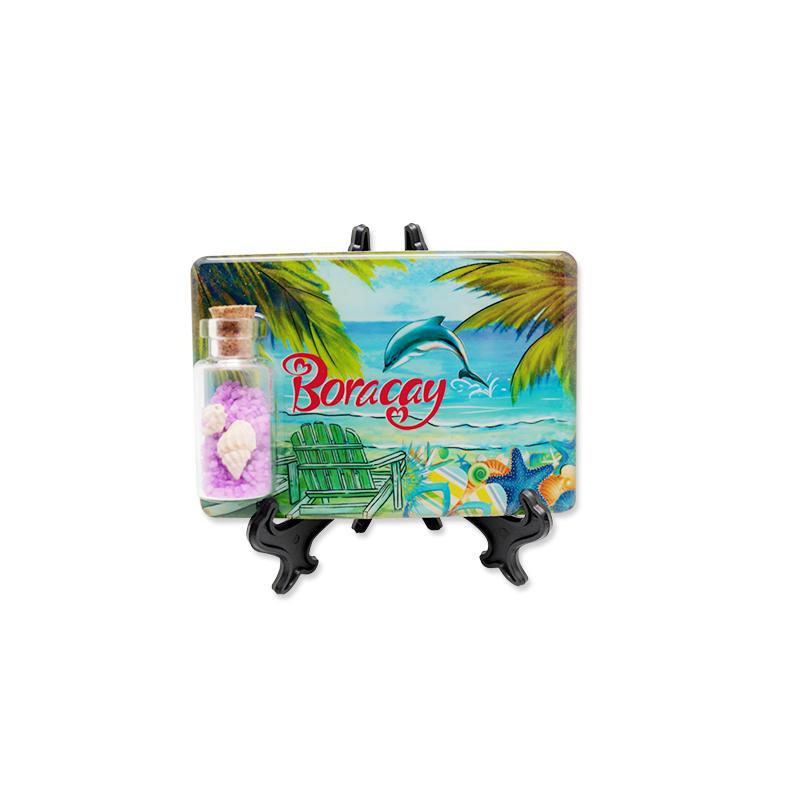 New Design Fridge Magnet Beach Souvenir Sand Drift Bottle Fridge Magnet