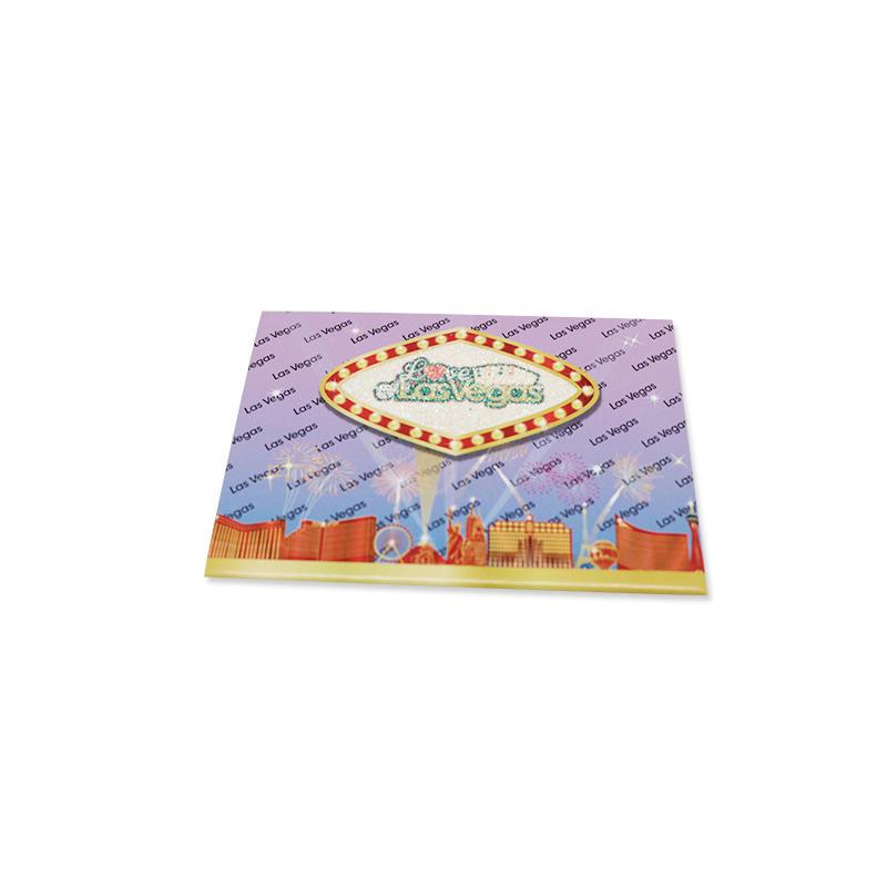 Colorful Custom printing Glitter paper Tourist fridge magnet