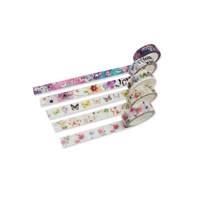 High Quality Customized Patterns Decorative Waterproof Adhesive Washi Tape