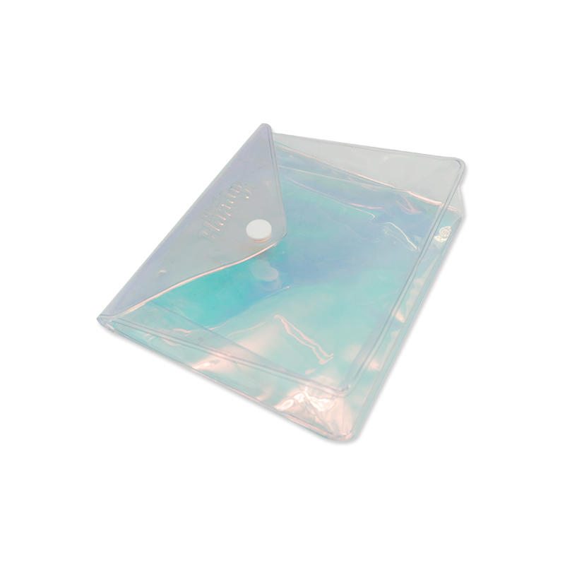 Holographic Cosmetic Bag Clear PVC Travel Laser Shiny Makeup Bag
