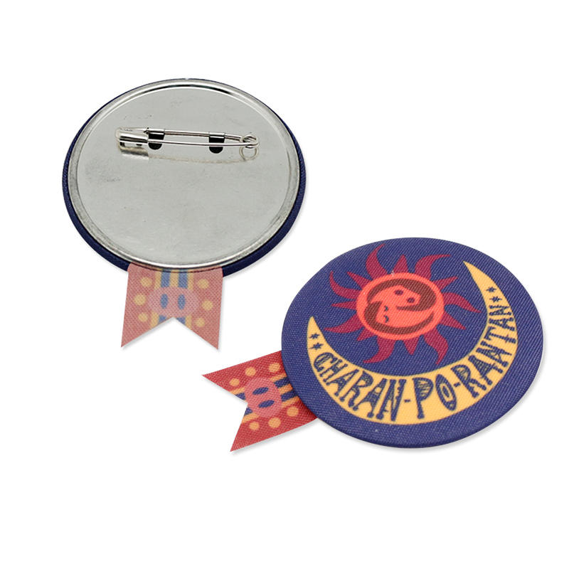 Promotional Gift Fabric Covering Button Badge Ribbon badges