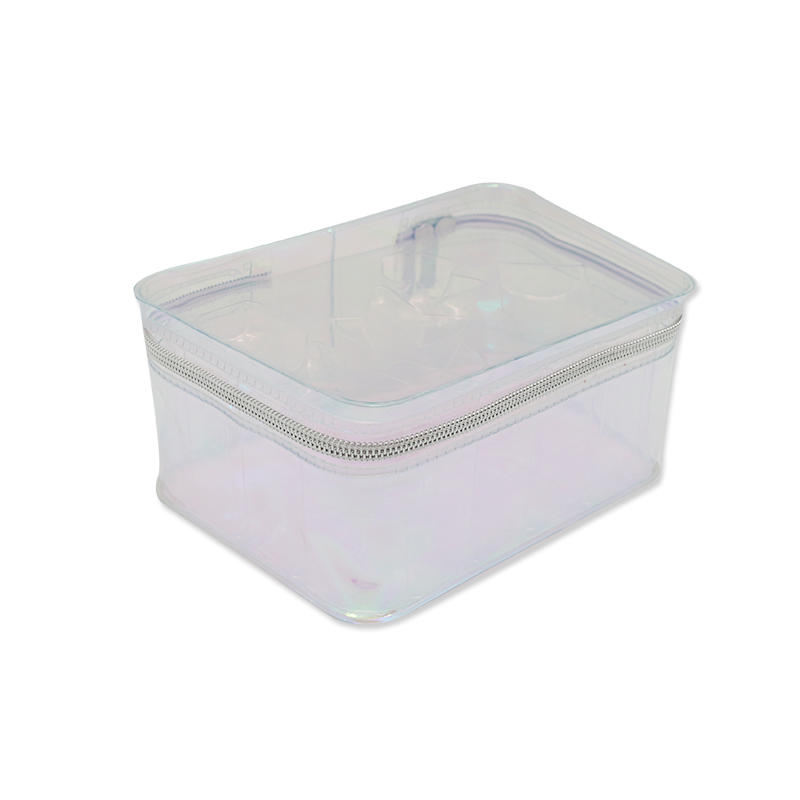 Clear Hologram Laser Cosmetic Bag Travel Wash Bag for Birthday Gift