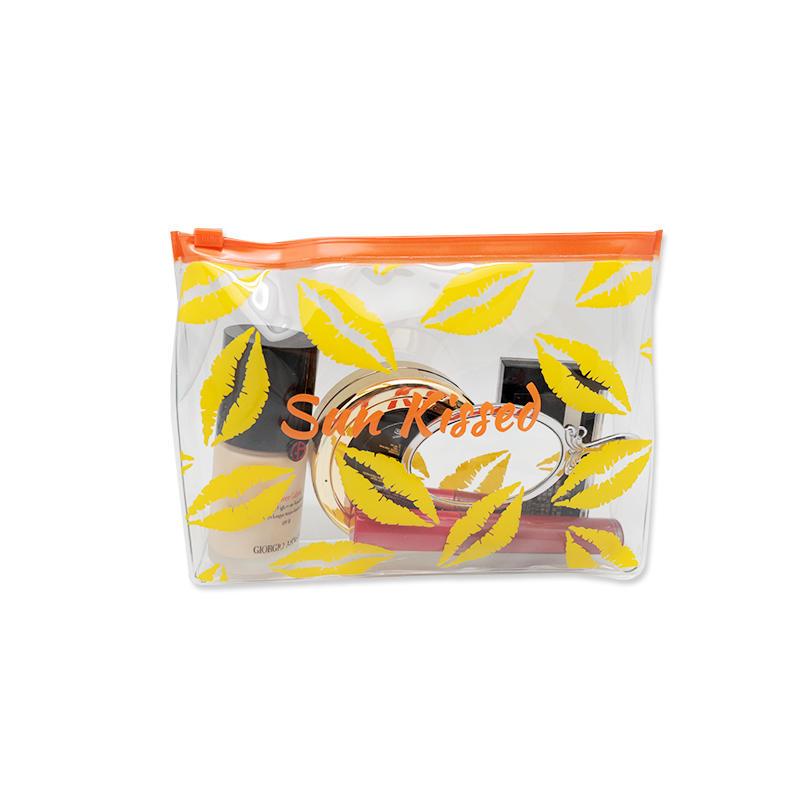 Custom Logo Print Waterproof  Makeup Bag Clear Tote PVC Bag