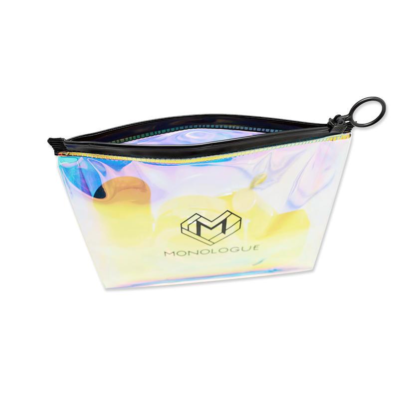 Custom Logo Waterproof PVC Plastic Laser Hologram Cosmetic Bag