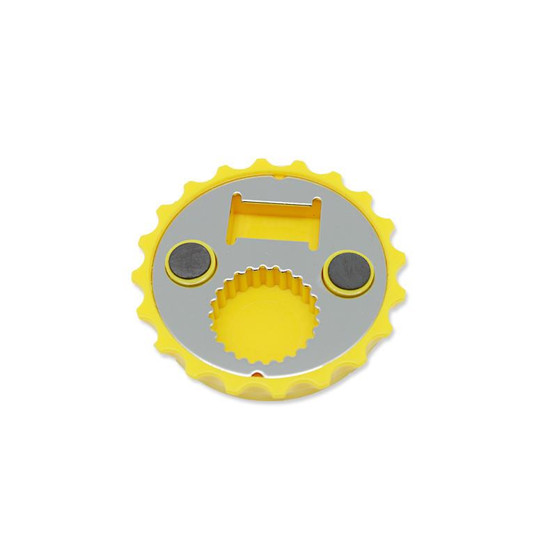 Magnetic Fridge Magnet Bottle Opener Cap Shape Easy Open Automatic Bottle Opener