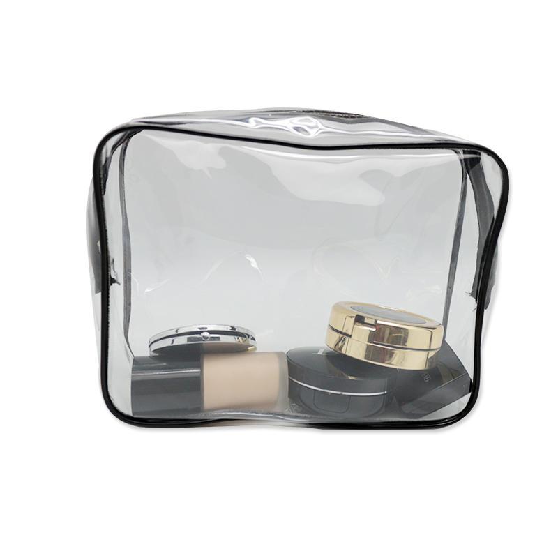New Medium Transparent Plastic PVC Travel Cosmetic Toiletry Zip Bag
