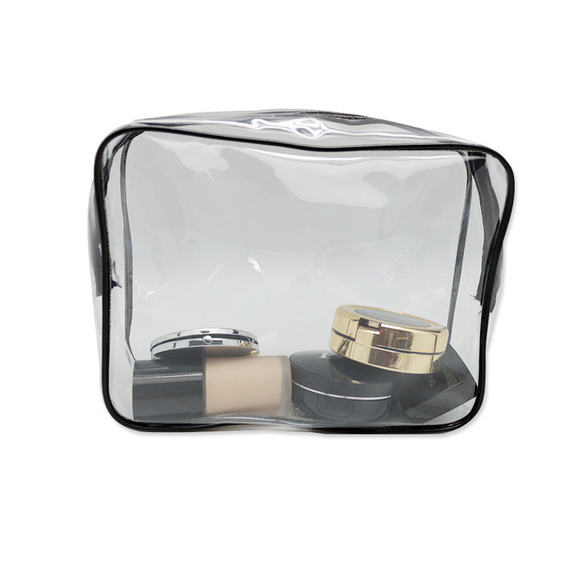 New Medium Transparent Plastic PVC Travel Cosmetic Toiletry Zip Bag