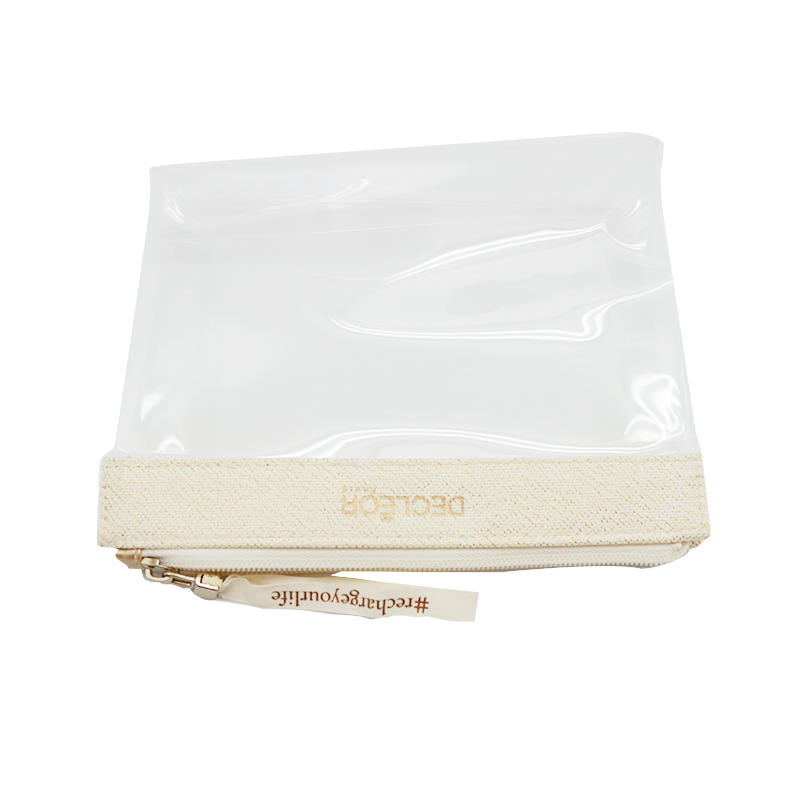 Wholesale Printed Logo Clear PVC Travel Toiletry Bag Make Up Bags