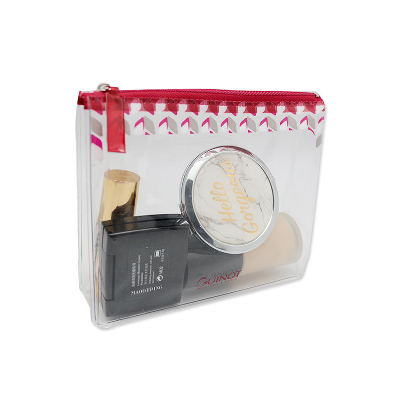 Fashion Waterproof Makeup PVC Small Cosmetic Bag with Logo