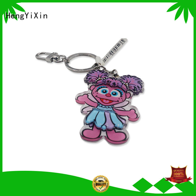 transparent acrylic keychain manufacturer for gift HengYiXin