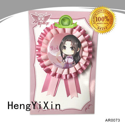HengYiXin organza horse rosettes personalized for party