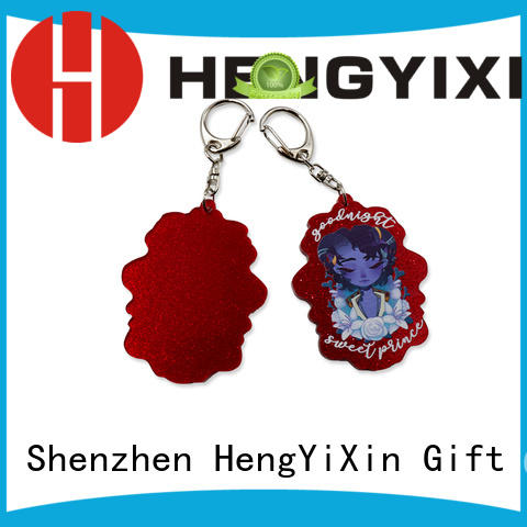 keyring cute keychains wholesale for souvenir HengYiXin