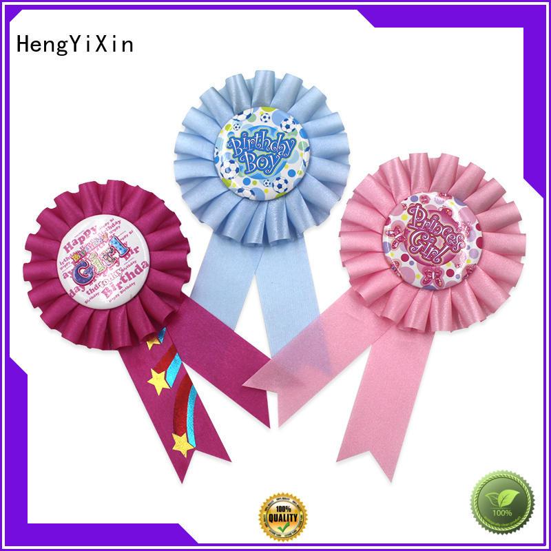 HengYiXin badges satin ribbon series for wedding