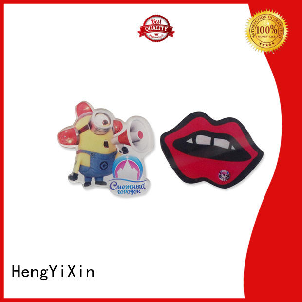 HengYiXin round custom acrylic keychains lapel for girls