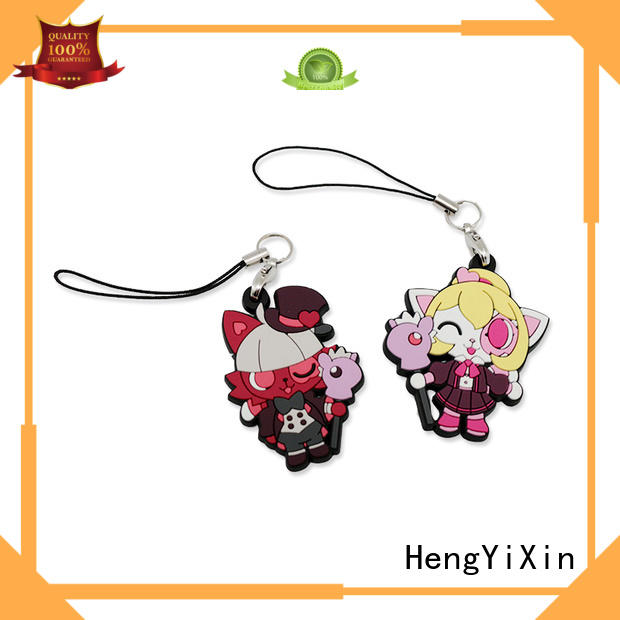 3d pvc keyring logo for students HengYiXin