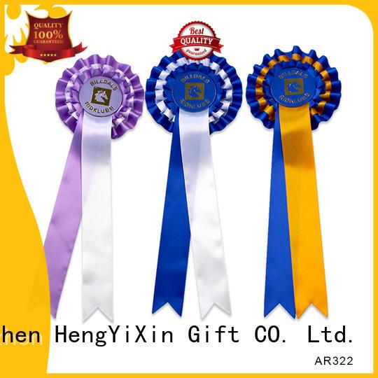 custom rosette ribbons birthday for wedding HengYiXin