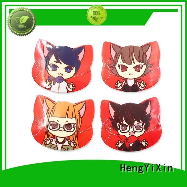 cat shape custom badges wholesale for children