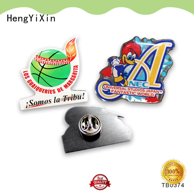 zinc metal badge manufacturers badges for sports HengYiXin