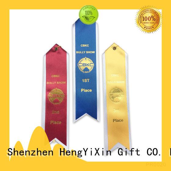 logo award ribbons design for sport HengYiXin