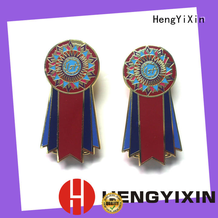 HengYiXin enamel metal pin badges factory for gift