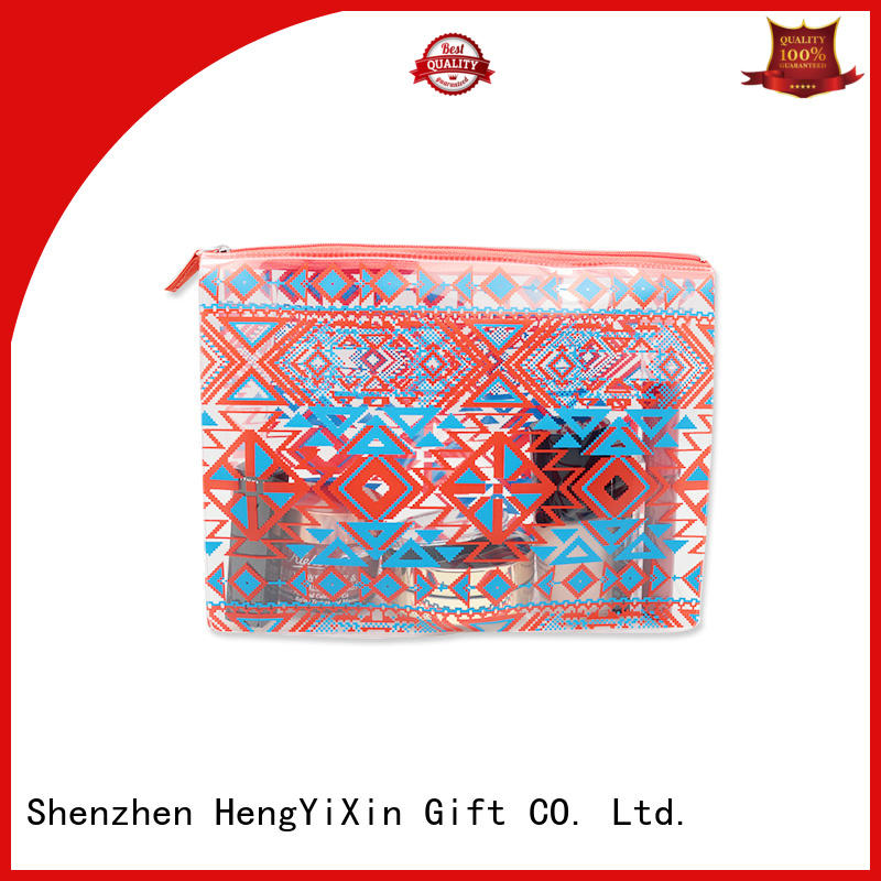 Wholesale Printed Logo Clear PVC Cosmetic Bag Storage Bag