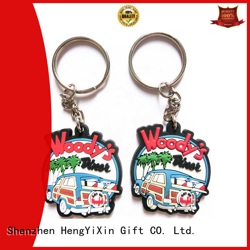 car shape pvc keychain wall decor for kids HengYiXin