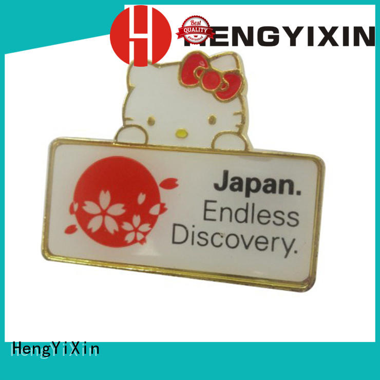 HengYiXin printing metal pin badges factory for gift
